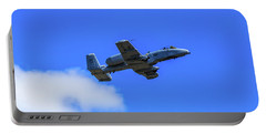 Portable Battery Charger featuring the photograph A-10c Thunderbolt II In Flight by Doug Camara