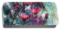 A Blooming Magnolia Portable Battery Charger
