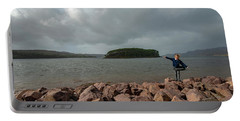 A Charming Little Girl In The Isle Of Skye 1 Portable Battery Charger