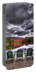 Portable Battery Charger featuring the photograph A Fall Day On West Lake by David Patterson