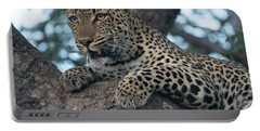 A Focused Leopard Portable Battery Charger
