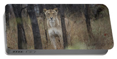 A Lioness In The Trees Portable Battery Charger