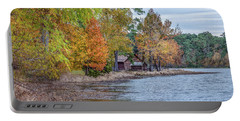 A Peaceful Place On An Autumn Day Portable Battery Charger