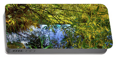 Portable Battery Charger featuring the photograph A Peek At The River by David Patterson