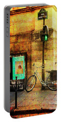 Portable Battery Charger featuring the photograph A Saint Bicycle Of All Seasons II by Craig J Satterlee