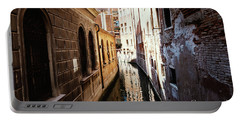 A Shadow In The Venetian Noon Narrow Canal Portable Battery Charger