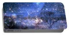 A Starry Night In The Desert Portable Battery Charger