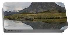 Portable Battery Charger featuring the photograph A Still Evening At Lac Du Miey by Stephen Taylor
