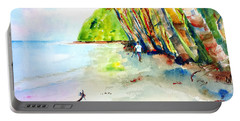 Portable Battery Charger featuring the painting A Stroll On Batibou 1 by Carlin Blahnik CarlinArtWatercolor