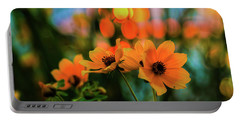 Sunflower Bokeh Sunset Portable Battery Charger