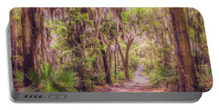 Portable Battery Charger featuring the photograph A Trail Into Time by John M Bailey
