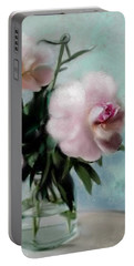 A Vase Of Peonies Portable Battery Charger