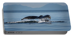 Portable Battery Charger featuring the photograph A Whale Of A Tail - Wildlife Art by Jordan Blackstone