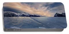 Abraham Lake Ice Wall Portable Battery Charger