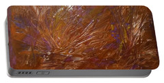 Abstract Brown Feathers Portable Battery Charger