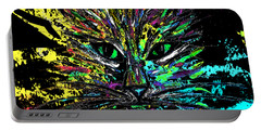 Abstract Cat  Portable Battery Charger