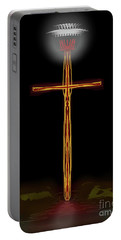 Abstract Cross With Halo Portable Battery Charger