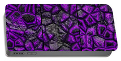 Abstract Deep Purple Stone Triptych Portable Battery Charger