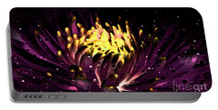 Abstract Digital Dahlia Floral Cosmos 891 Portable Battery Charger