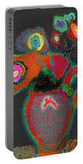 Abstract Floral Art 364 Portable Battery Charger