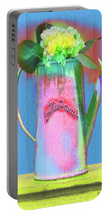 Abstract Floral Art 377 Portable Battery Charger