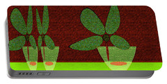Abstract Floral Art 385 Portable Battery Charger