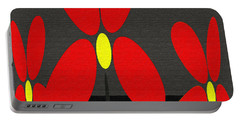 Abstract Floral Art 393 Portable Battery Charger