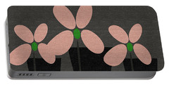 Abstract Floral Art 394 Portable Battery Charger