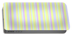 Abstract Fresh Color Lines Background - Dde595 Portable Battery Charger