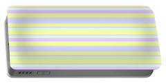Abstract Horizontal Fresh Lines Background - Dde596 Portable Battery Charger