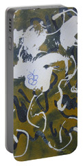 Portable Battery Charger featuring the drawing Abstract Human Figure by AJ Brown