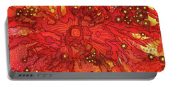 Portable Battery Charger featuring the painting Abstract Ink 11 by Amy E Fraser
