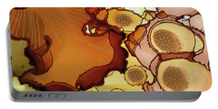 Portable Battery Charger featuring the painting Abstract Ink 12 by Amy E Fraser
