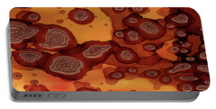 Portable Battery Charger featuring the painting Abstract Ink 19 by Amy E Fraser