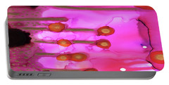 Portable Battery Charger featuring the painting Abstract Ink 2 by Amy E Fraser