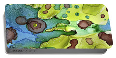 Portable Battery Charger featuring the painting Abstract Ink 20 by Amy E Fraser