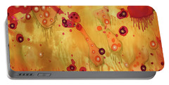 Portable Battery Charger featuring the painting Abstract Ink 27 by Amy E Fraser