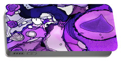Portable Battery Charger featuring the painting Abstract Ink 9 by Amy E Fraser