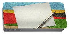 Abstract Landscape With A Blank Note Portable Battery Charger