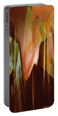 Abstract Orange Flower Portable Battery Charger