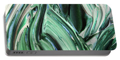 Abstract Organic Lines The Flow Of Blue And Green  Portable Battery Charger