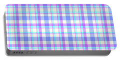 Abstract Squares Background - Dde598 Portable Battery Charger