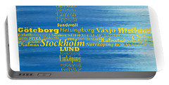 Abstract Swedish Flag  Portable Battery Charger