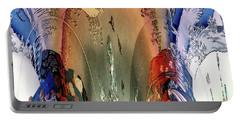 Abstract Utagawa Kunisada Portable Battery Charger