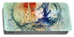 Abstract Water Splash Portable Battery Charger
