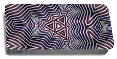 Abstract Zebra Design Portable Battery Charger