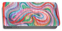 Abstraction In Spring Colors Portable Battery Charger