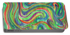 Abstraction In Summer Colors Portable Battery Charger