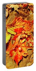 Acorns Fall Maple Oak Leaves Portable Battery Charger