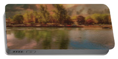 Portable Battery Charger featuring the photograph Across The Water by Leigh Kemp